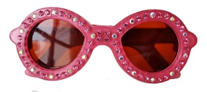 Sunglasses Crystal Clip - Hot Pink