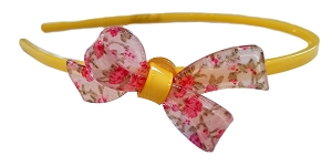 Liberty of London Pink Floral Bow Headband