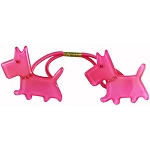 Scottie Dogs Double Ponytail - Pink