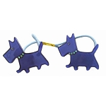 Scottie Dogs Double Ponytail - Cobalt Blue