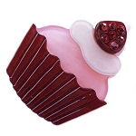 Cupcake Clip - Red