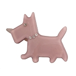 Scottie Dog Clip - Gray
