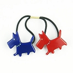 Patriotic Scottie Dogs Double Ponytail