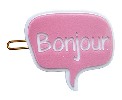 Bubble Talk Bonjour Hairpin