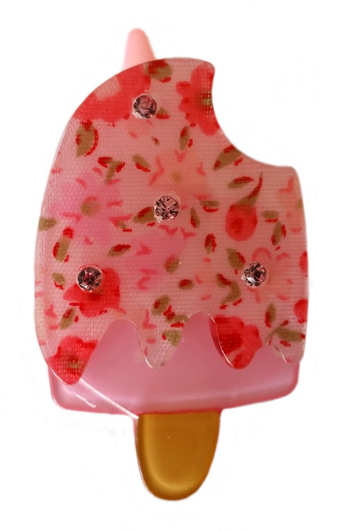 Liberty of London Pink Rosebuds Popsicle Clip