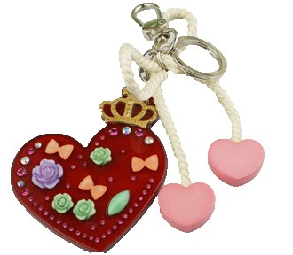 Heart Key Chain - Name Tag