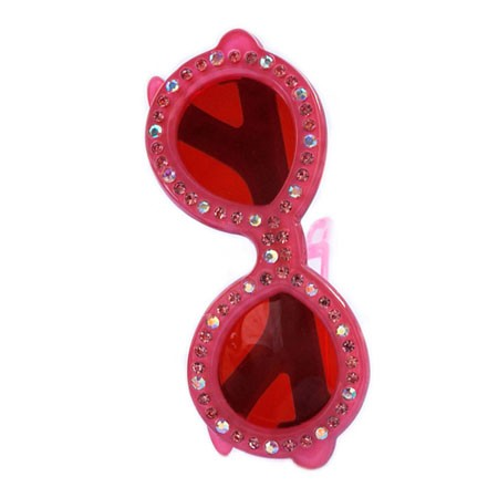 Sunglasses Crystal Clip - Pink
